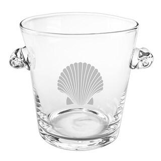 Fan Shell Scroll Handle Ice Bucket