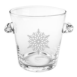 Paper Snowflake Scroll Handle Ice Bucket