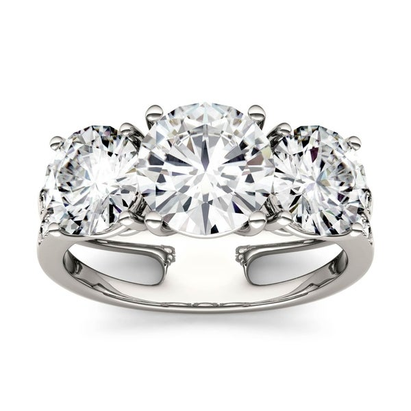 643d6e4152138 Shop Charles & Colvard 14k White Gold 3 1/2ct DEW Forever One Near ...