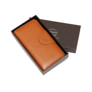 Acel Pebbled Leather Compact Wallet