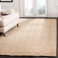 Safavieh Couture Hand-Knotted Contemporary Ivory Wool Rug - 4' x 6'