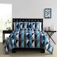 VCNY Home Bold Triangle Mini 3-piece Comforter Set