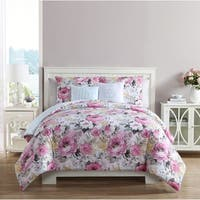VCNY Home Lucia Floral 5-piece Reversible Comforter Set