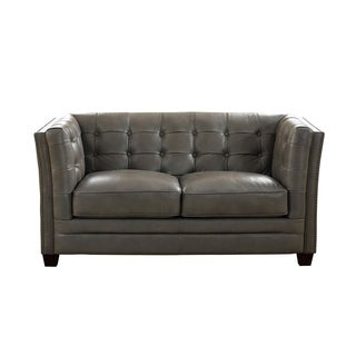 Milan Leather Loveseat