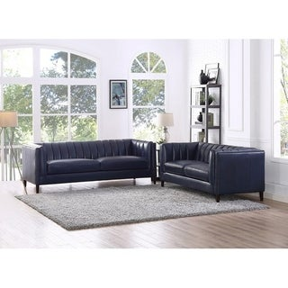 Churchill Leather Sofa and Loveseat Set