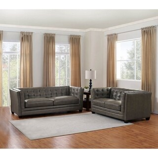 Milan Leather Sofa and Loveseat Set