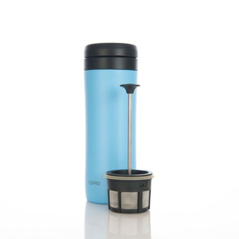 Espro 12 Ounce Travel Coffee Press Sky Blue