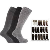 12 Pairs: Men's Cotton-Blend Classic Crew Socks (Size 10-13)