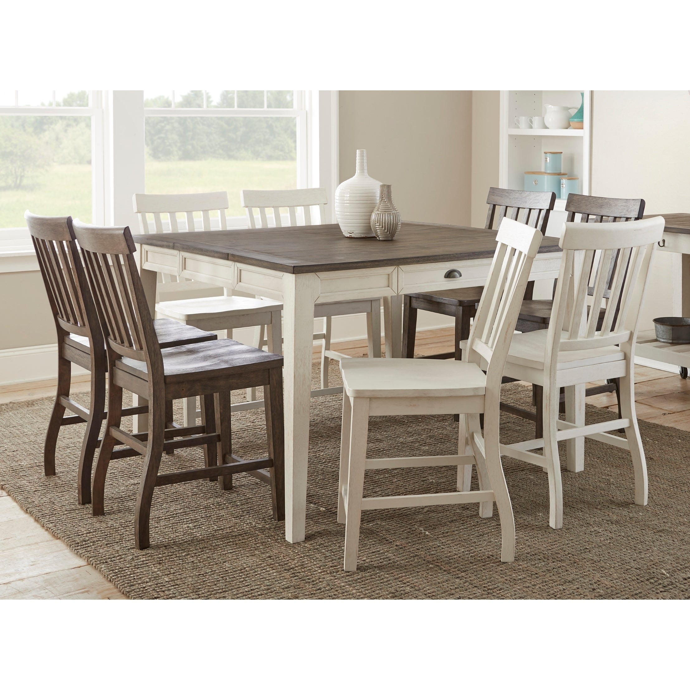 Cottonville 9 Piece Counter Height Dining Set
