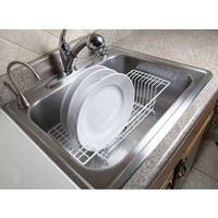 Home Basics White Vinyl Coated Steel Over-the-Sink Rack