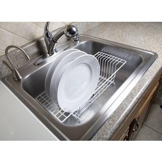 Home Basics White Vinyl Coated Steel Over-the-Sink Rack