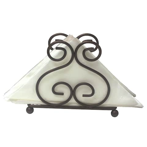 Home Basics Scroll Collection Bronze Steel Napkin Holder