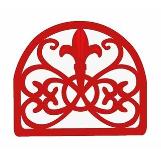 Home Basics Cast Iron Fleur De Lis Napkin Holder