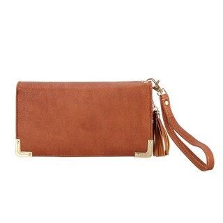 Diophy PU Leather Trifold Wallet with Tassels Decoration Clutch - S (More options available)