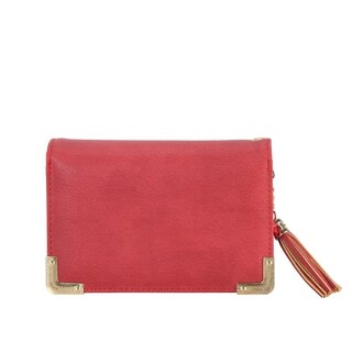 Diophy PU Leather Trifold Small Wallet with Tassels Decoration - S (More options available)