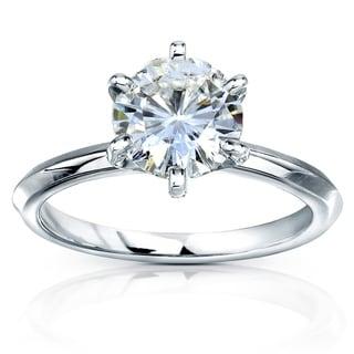 Annello by Kobelli 14k Gold Moissanite Engagement Ring