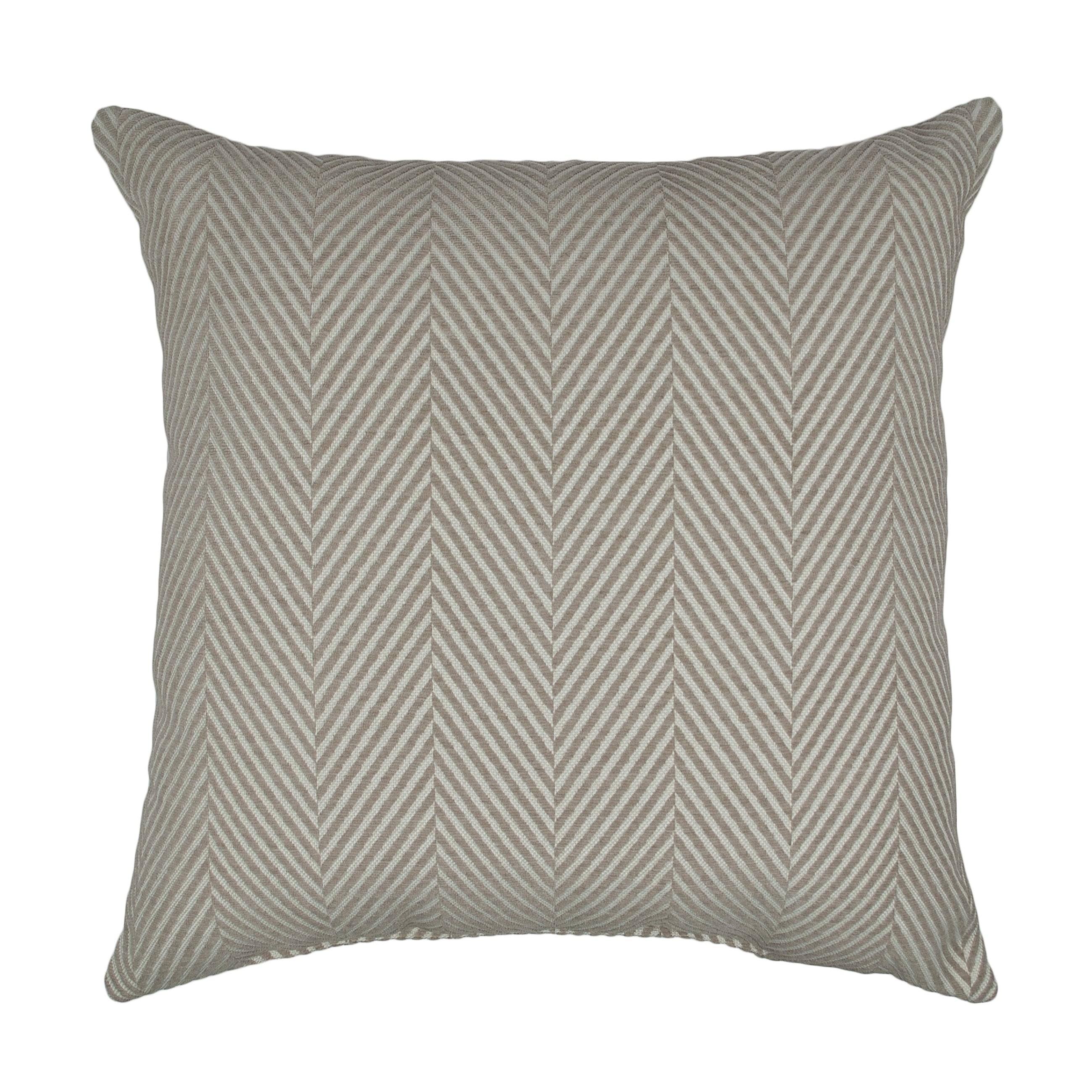 Sherry Kline Chevron Chenille 20-inch Decorative Pillow - taupe