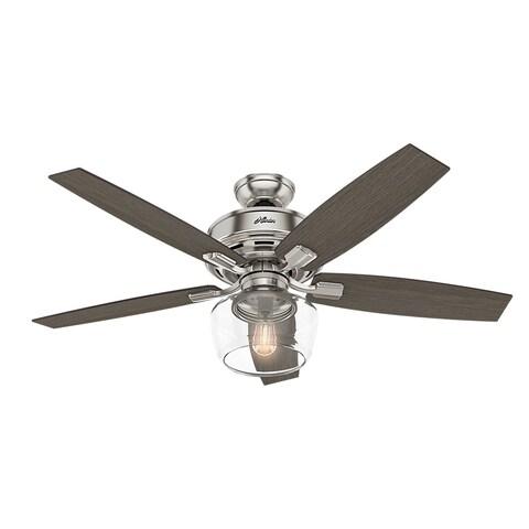 Hunter Fan Bennett 52-inch Brushed Nickel Fan