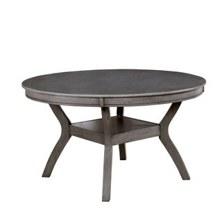 Furniture of America Relia Transitional Grey 54-inch Round Dining Table