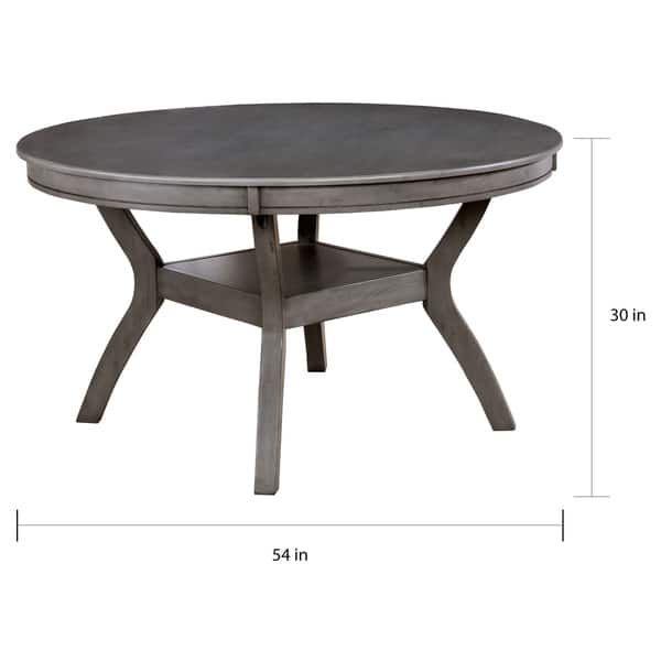Incredible Shop Relia Transitional 54 Inch Round Dining Table By Foa Creativecarmelina Interior Chair Design Creativecarmelinacom