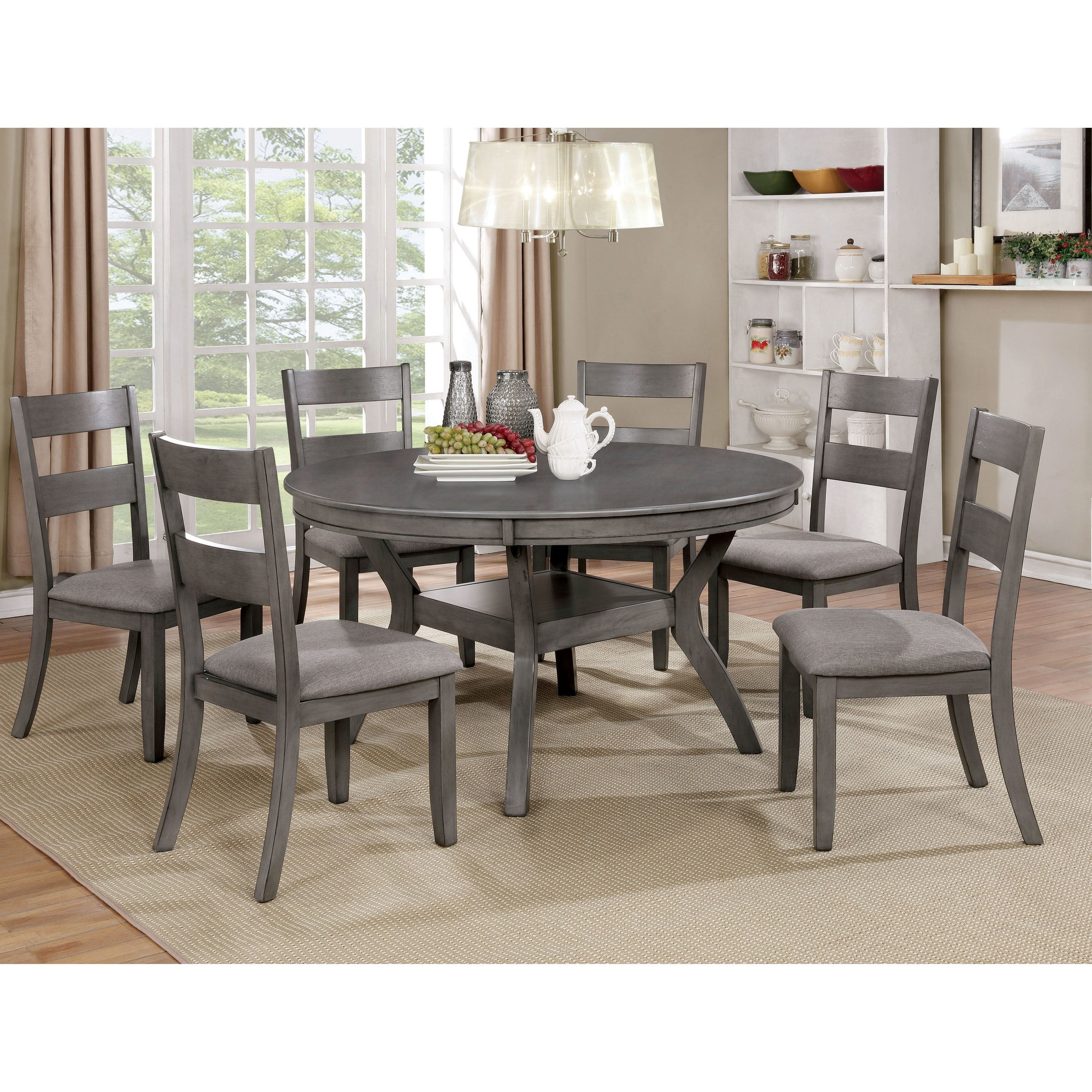 Relia Transitional 54 Inch Round Dining Table By Foa