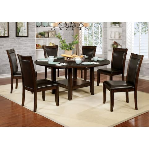 Furniture of America Duza Transitional Cherry 65-inch Dining Table