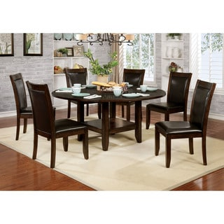 Furniture of America Allon Transitional Brown Cherry Dining Table with Drop Leaf - Cherry Brown
