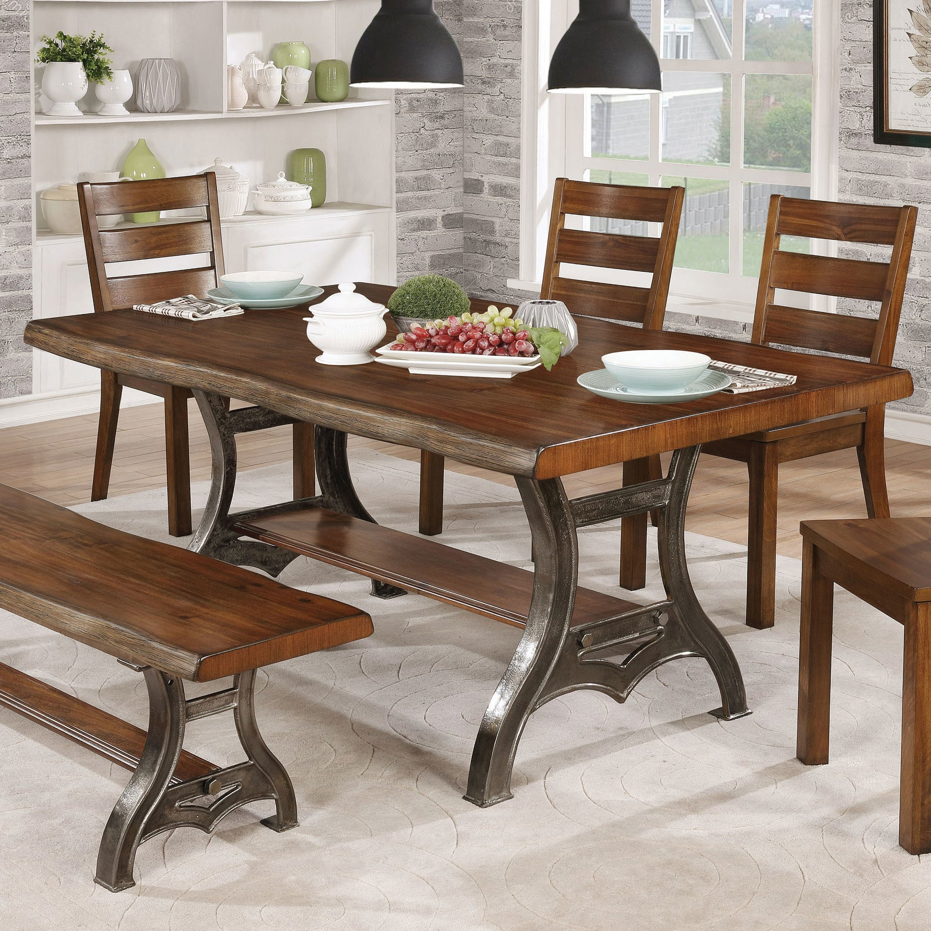 The Gray Barn Maiden Castle 68-inch Brown Cherry Dining Table - Brown Cherry