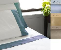 Egyptian Cotton 600 Thread Count Contrast Cuff Sheet Set - Thumbnail 1