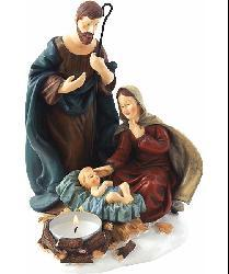 Nativity Around a Tea Light