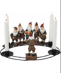 Santa Band Round Candleholder