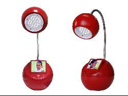 Sungale Red LED Desk Lamp with 3.5-inch Digital Picture Frame - Thumbnail 1