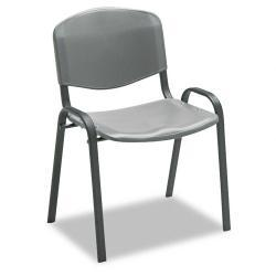 Safco Stacking Chair, Charcoal (Case of 4)