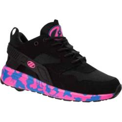 Children's Heelys Force Roller Shoe Black/Pink/Blue Confetti