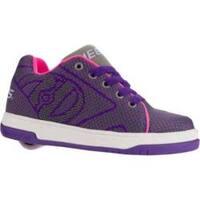 Children's Heelys Propel Knit Roller Shoe Grey/Purple/Neon Pink Knit