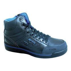 Men's S Fellas by Genuine Grip 5010 Slip-Resistant Stealth Work Boot Black Leather