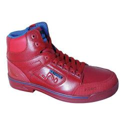 Men's S Fellas by Genuine Grip 5013 Slip-Resistant Stealth Work Boot Red Leather