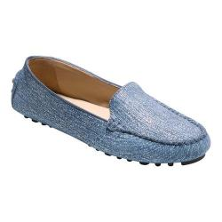 Women's Cole Haan Hanneli Driver II Loafer Marine Blue and White Nubuck/Gum