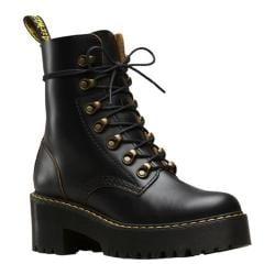 Women's Dr. Martens Leona 7-Eye Hiker Boot Black Vintage Smooth Leather