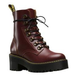 Women's Dr. Martens Leona 7-Eye Hiker Boot Oxblood Vintage Smooth Leather