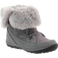 Women's Bearpaw Whitney Mid-Calf Lace-Up Boot Gray II Leather/Suede/Nylon