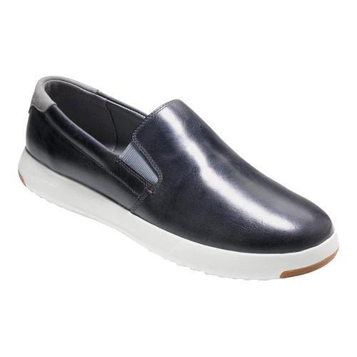 Men's Cole Haan Grandpro Slip On Sneaker Gray Pinstripe Leather/Gray