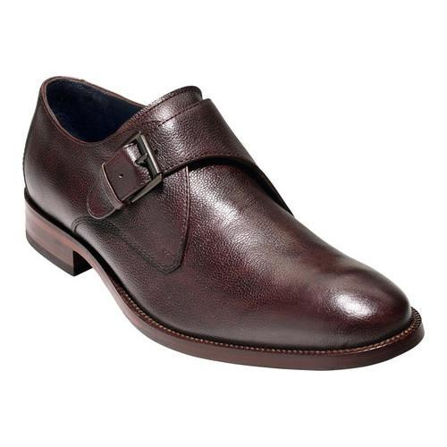 Men's Cole Haan Williams II Monk Strap Mahogany Grain Leather