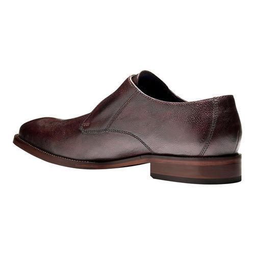Men's Cole Haan Williams II Monk Strap Mahogany Grain Leather - Thumbnail 2