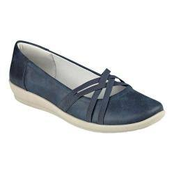Women's Easy Spirit Aubree Flat Navy/Navy Fabric|https://ak1.ostkcdn.com/images/products/200/600/P23963941.jpg?impolicy=medium