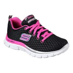 Girls' Skechers Skech Appeal Rushing Racer Sneaker Black/Hot Pink