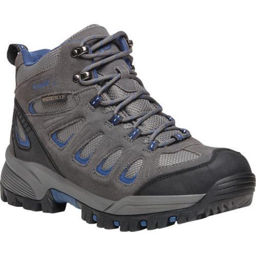 Men's Propet Ridge Walker Hiking Boot Grey/Blue Suede/Mesh