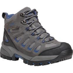 Men's Propet Ridge Walker Hiking Boot Grey/Blue Suede/Mesh - Thumbnail 0