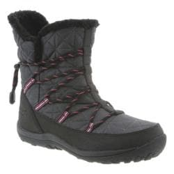 Women's Bearpaw Celine Mid-Calf Bungee-Lace Boot Charcoal Nubuck/Nylon