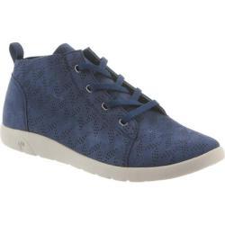 Women's Bearpaw Gracie High Top Sneaker Slate Blue Microsuede